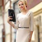 Белое платье-футляр: модные модели